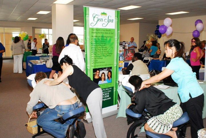 Gens Spa at the Business to Business Expo Florida